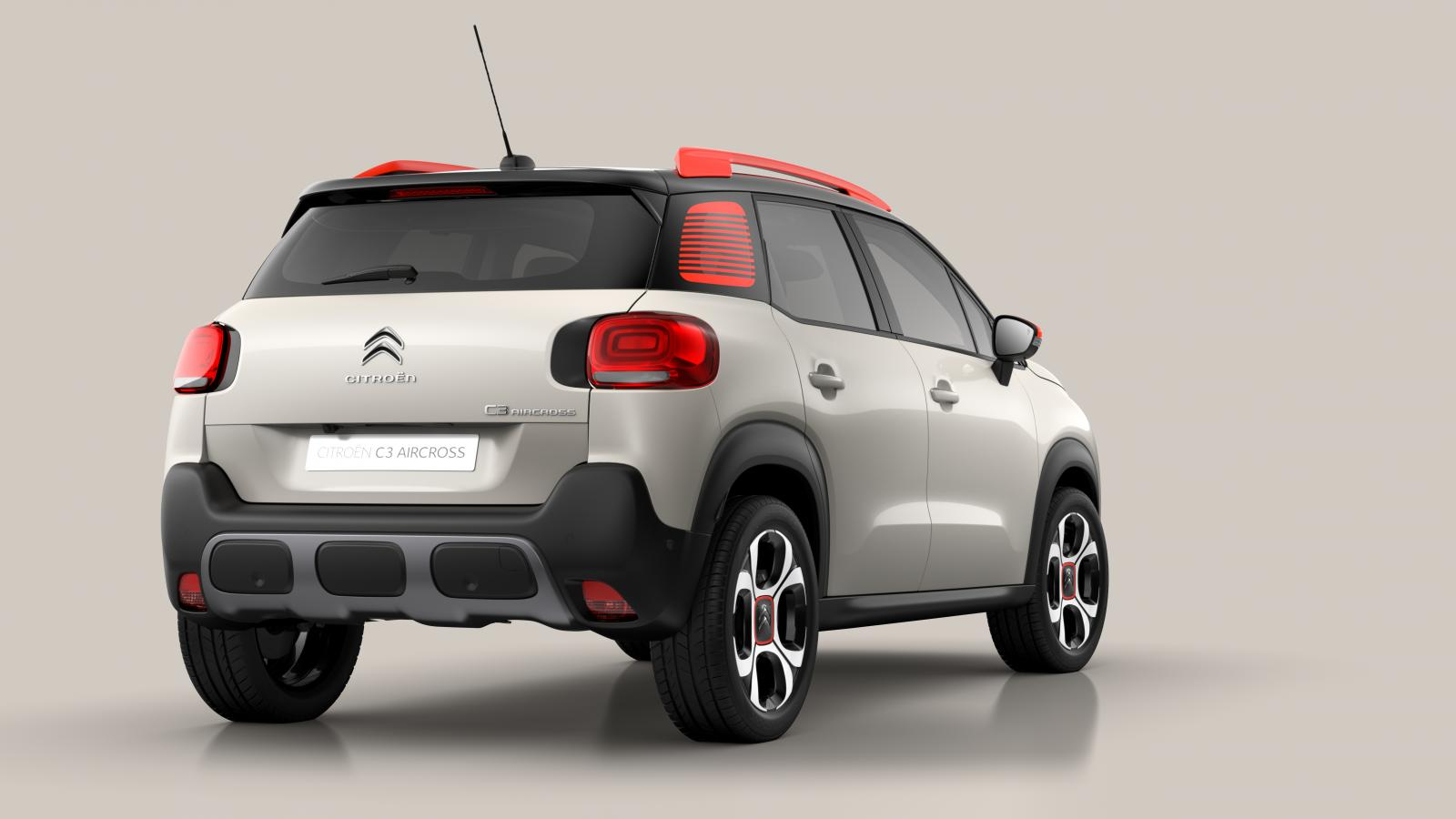 Compact SUV C3 Aircross  3/4 Heckansicht